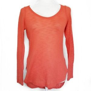 Anthropologie Bird Cage coral knit top sweater S